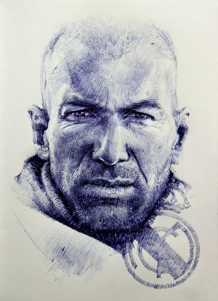 Zinedine Zidane by Vasiliy